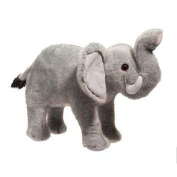 Maude the Little Plush Baby Elephant