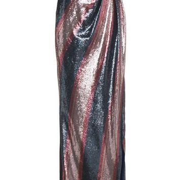 ESBONJF Johanna Ortiz Striped Sequin Maxi Skirt - Farfetch