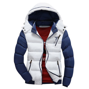 2016 Fashion Ultralight Spring Winter Warm Jacket Men Cotton Brand Clothing Thick Zipper Slim Men's Jackets Parkas Designer Fit