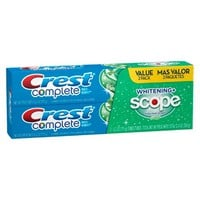 Crest Complete Multi-Benefit Whitening + Scope Minty Fresh Flavor Toothpaste Twin Pack - 12.8 oz