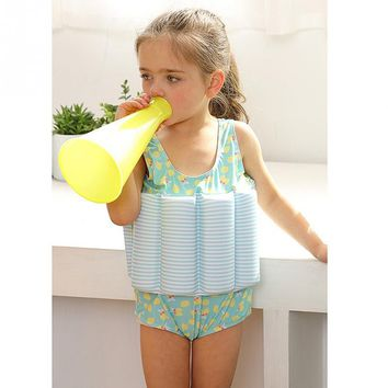 Children Swimming Water sports Cartoon Printed One-piece Girls Boys Buoyancy Vest Float Suit Baby Toddler Child Swimming Aid