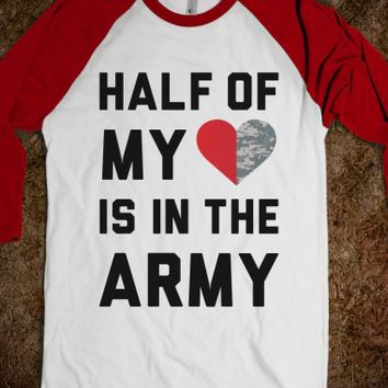 White/Red T-Shirt | Cute Army Girlfriends Shirts