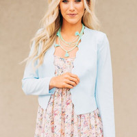 Short & Sweet Powder Blue Blazer