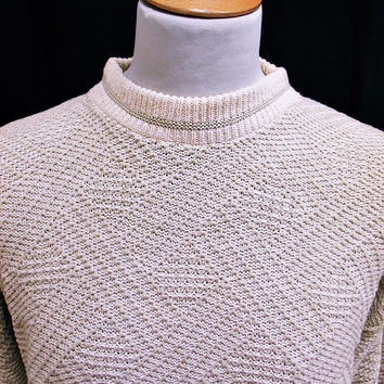 Vintage 90s Shaker Acrylic Knit Jumper Sweater Medium