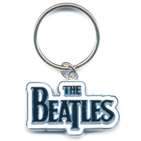 Beatles Drop T Logo Metal Key Chain Silver
