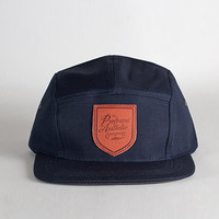 Profound Aesthetic The 5 Panel Script Shield Hat Navy