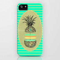 Sliced pineapple iPhone & iPod Case by AmDuf