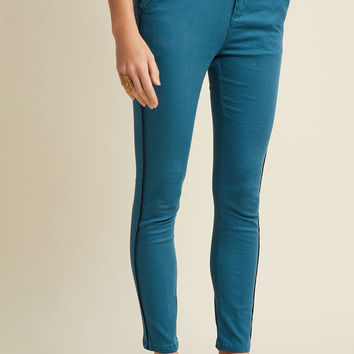 Stretch Twill Tuxedo Skinnies
