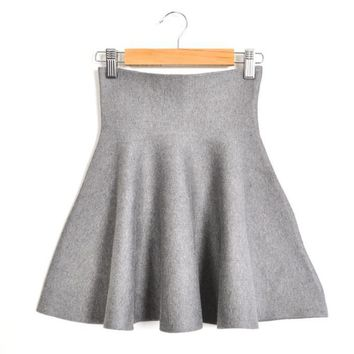 Autumn Winter New Short Cotton Skirts Womens Cute Candy-colored Skirt Bust Sundress Put On A Large Umbrella Mini Skirts