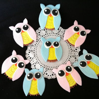 12 Owl Cake Decorations, Owl Baby Shower Decoration, 12 Owls for Cupcakes, Owl Birthday Decoration, Owl Party Favor, Owl Cake Decoration, Owl Figurine