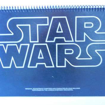 STAR WARS  Notebook Recycled Record Album Cover by RecordsAndStuff