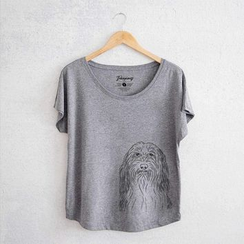 Murray the Bearded Collie - Women's Dolman Shirt