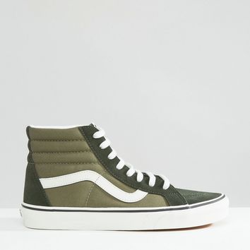 Vans Sk8-Hi Canvas Trainers In Green V004OKJUH