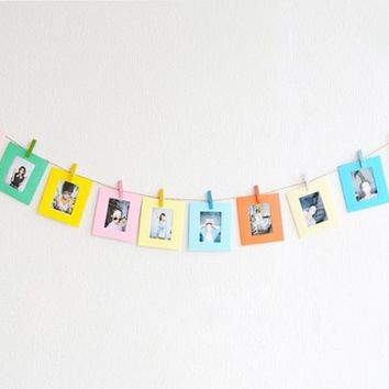 10 Pcs Paper Photo Frame Set For Fujifilm Instax Polaroid mini 8 mini 7S mini...