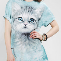 The Mountain Blue-Eyed Kitten Oversized Tee