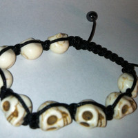 Skull Shamballa Bracelet by ShamballaCollection on Etsy