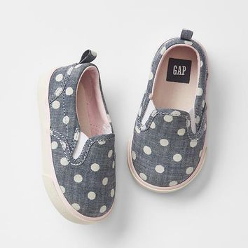 Gap Babygap + Peanuts Dot Slip On Sneakers