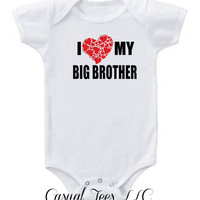 I Love My Big Brother  Baby Bodysuit   for the Baby