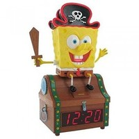 spongebob treasure chest clock radio