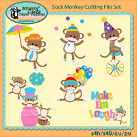 Sock Monkey Cutting File Set