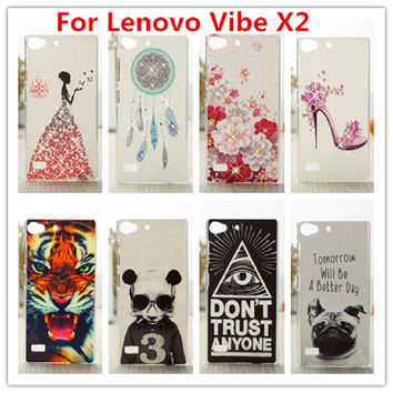 New Lenovo Vibe X2 Case Luxury Crystal Diamond 3D Bling Hard Plastic Case Cover For Lenovo Vibe X2 Cell Phone Case