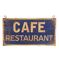 Vintage CAFE RESTAURANT Hanging Metal Wall Decor Commercial Home Kitchen