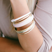 Fun Layered Bangle Set: Pink