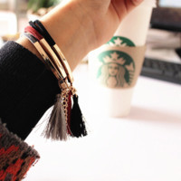 The Kennedy Leather Tassel Bracelet