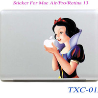 NEW Snow White Cartoon Laptop Skin Sticker Decal For Macbook Air Pro Retina 13 Macbook 13.3 inch