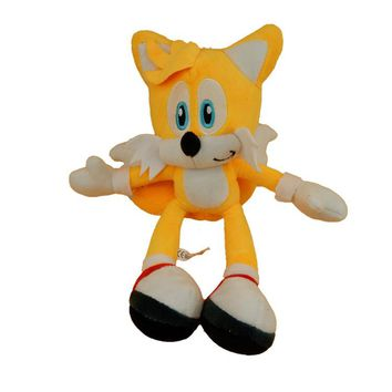 Anime Super Sonic Plush Toys the Hedgehog Tails Ultimate Flash Fox Plush Toys 20CM Cute Stuffed Animals Anime Doll Soft Toys