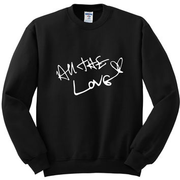 "One Direction ""All The Love / Harry Styles Autograph"" Crewneck Sweatshirt"