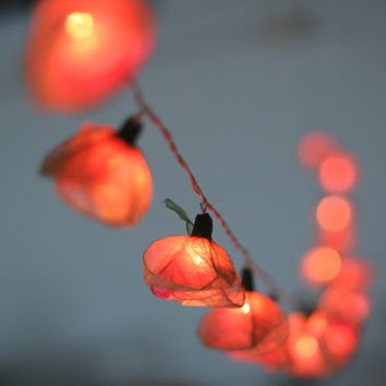 Pink String Lights For Bedroom : 20 mix white pink romantic string light from cottonlight on Etsy