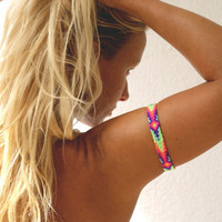 Ethnic Upper Arm Bracelet in Hot Neons.