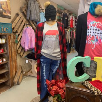 Red Buffalo Plaid Duster