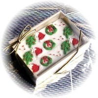 48 Decorated Sugar Cubes - Christmas