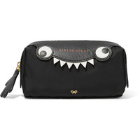 Anya Hindmarch - Monster printed leather-trimmed shell cosmetics case