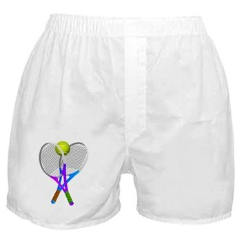 TENNIS RACKETS AND BALL BOXER SHORTS