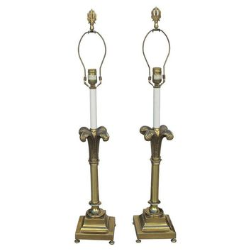 Pre-owned Rembrandt Hollywood Regency Lamps - A Pair