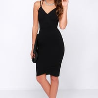LULUS Exclusive Get Your Chic On Black Bodycon Dress