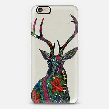 poinsettia deer linen iPhone 6s case by Sharon Turner | Casetify