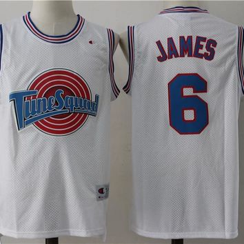 LeBron James #6 Space Jam Tune Squad Basketball White Jersey