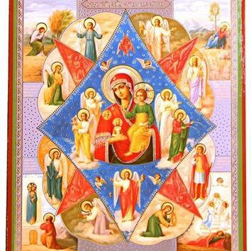 Virgin Mary Story Icon 8.75H