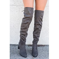 City Classic Thigh High Boot (Charcoal)