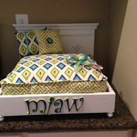 Curly Q Personalized Pet Bed