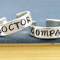 Doctor Who and Companion - Couples - Best Friends Ring Set = 1930143108