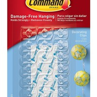 Command Decorating Clips, Clear, 60-Clip