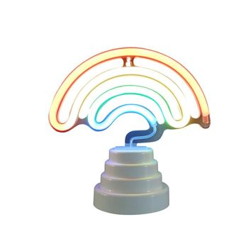 3W LED Neon Night Light Double-sided Table Lamp Warm Night Light Battery Operated Decorative Light