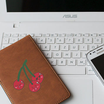 "Cherry Kawaii Die Cut Sticker // Cute Japanese // Journal & Tablet Small Size // 3"" // Perfect For Indoor, Outdoor, Laptop, Car"