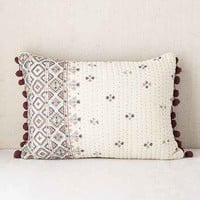 Plum & Bow Corta Quilted Floral Pillow