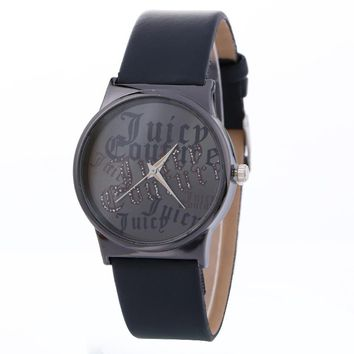 Character Pattern Simple Fashion Neutral Leather Watch